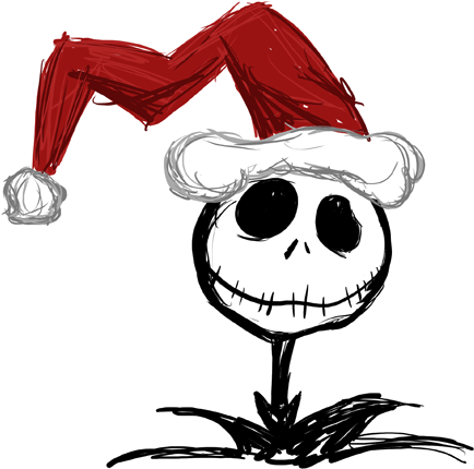 Download Hd Nightmare Before Christmas Santa Hat Jack Skellington With Christma Nightmare Before Christmas Drawings Jack Skellington Drawing Christmas Sketch