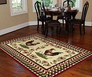 Rooster And Chicken Themed Kitchens Country Themed Rooster Rugs