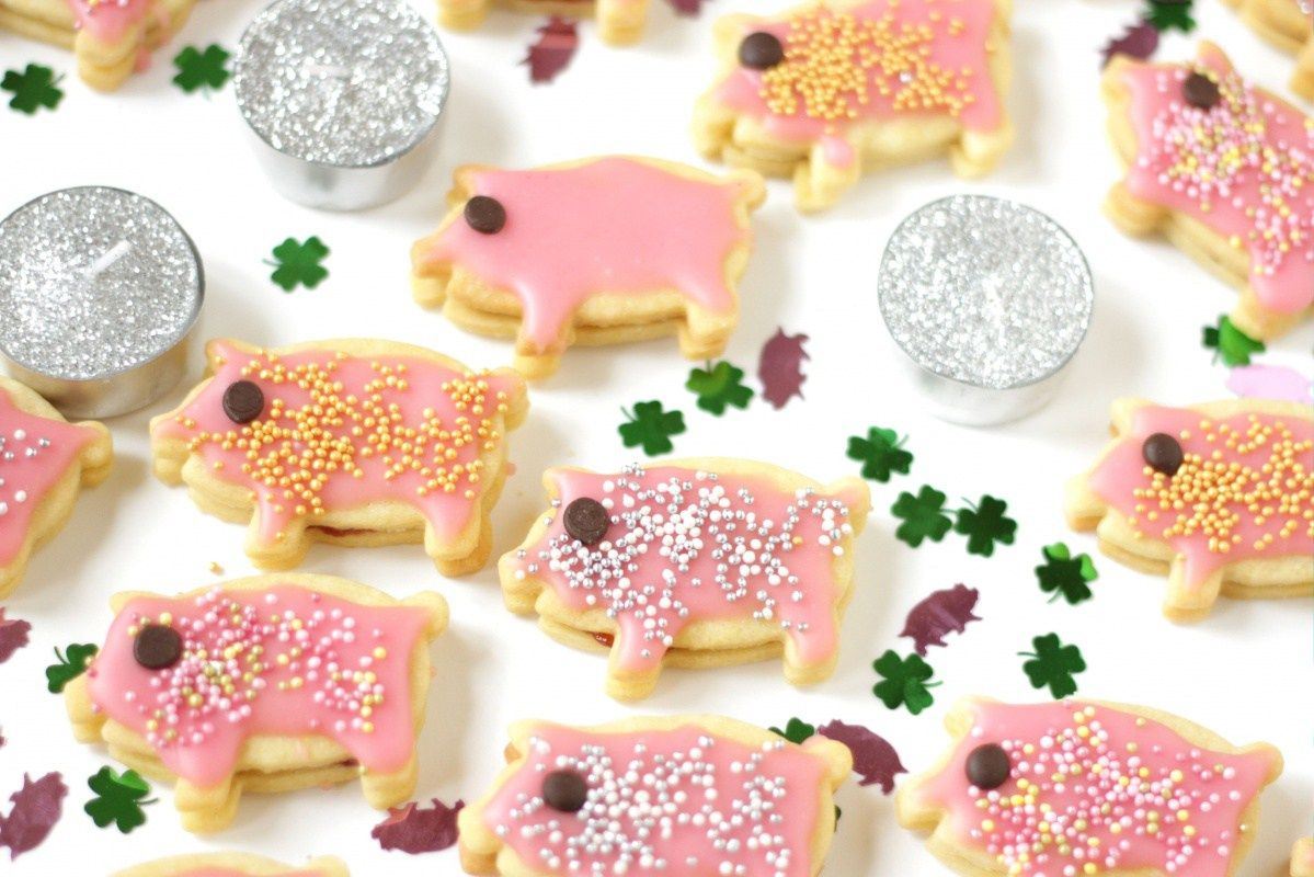 Glücksschwein-Kekse - Living on Cookies