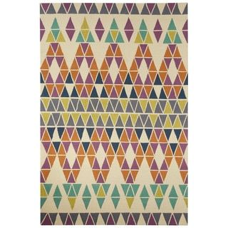 Shop for Indoor/Outdoor Tribal Pattern Ivory/Purple Polyester Area Rug (7'6 x 9'6). Get free shipping at Overstock.com - Your Online Home Decor Outlet Store! Get 5% in rewards with Club O!