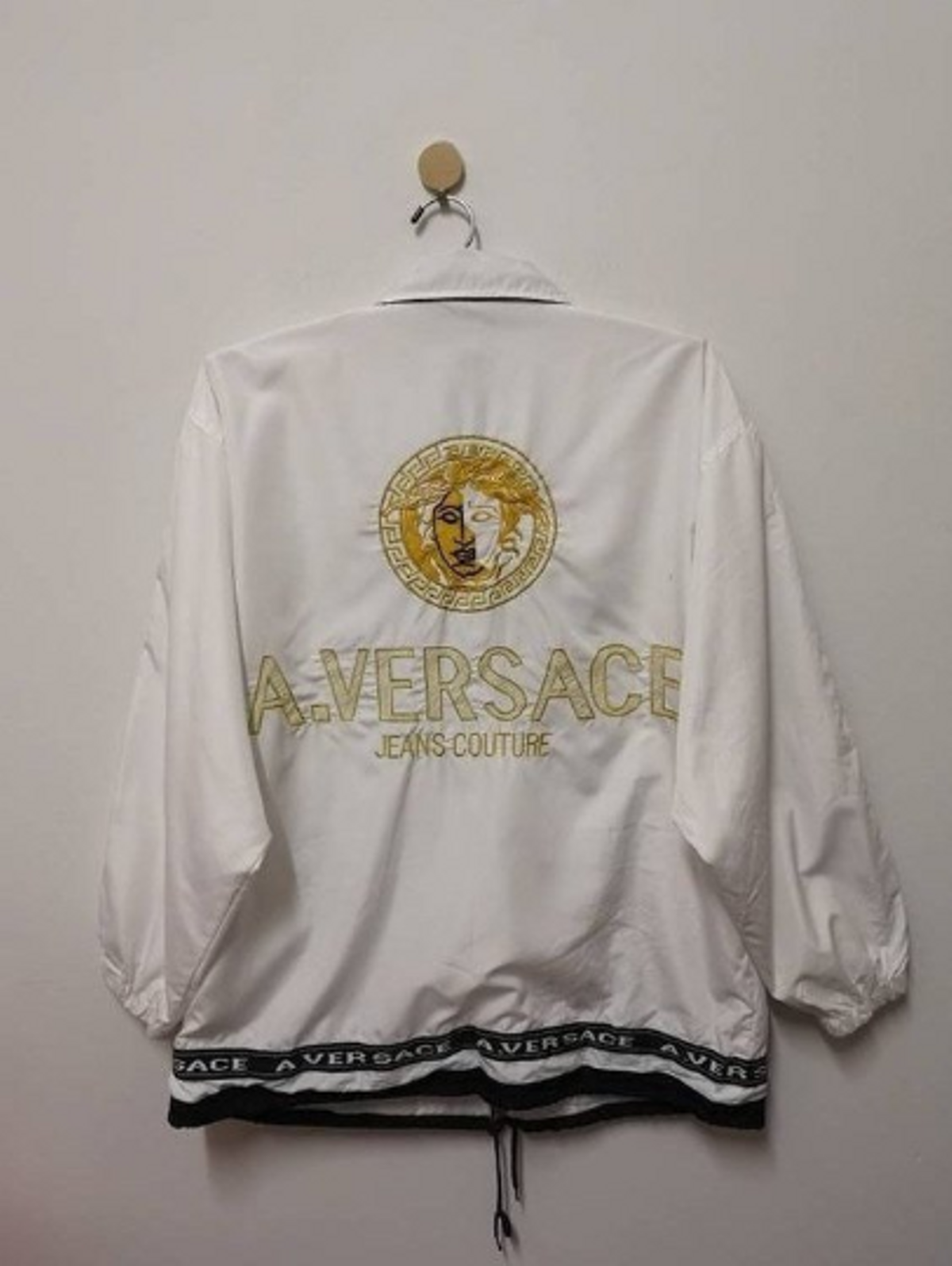 0d7190a0e8 Final Drop A.Versace Jacket Medusa Embroidery Gold Big Logo Spell ...