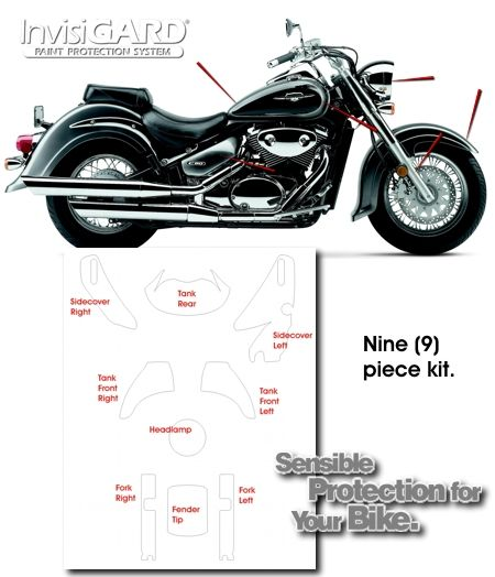InvisiGARD Invisible Clear Paint & Headlight protection kits for Suzuki Boulevard C50