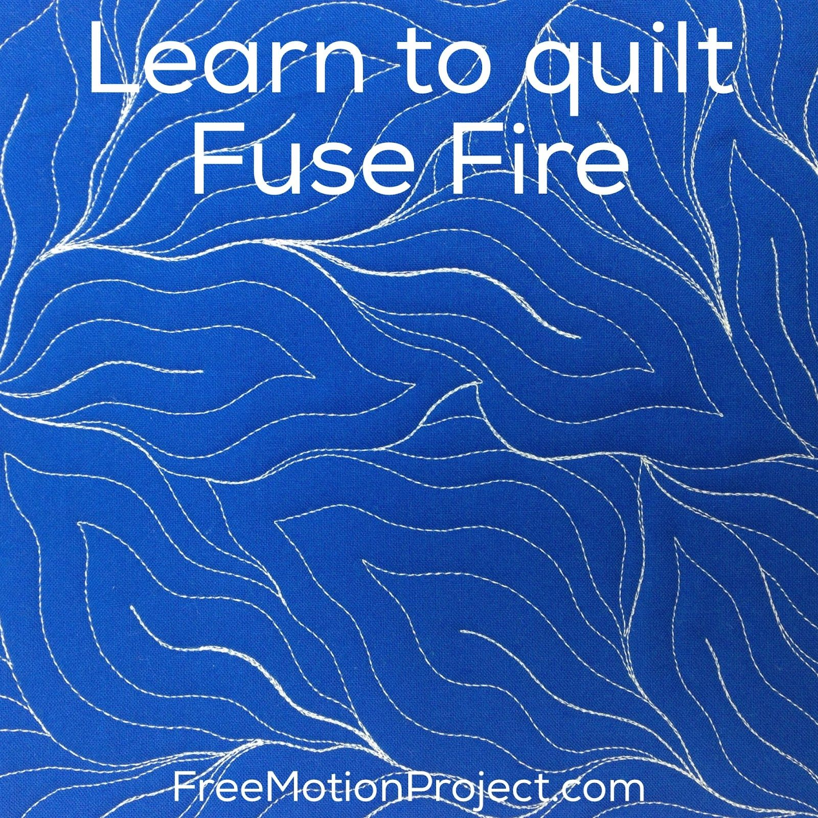 machine quilting Fuse Fire