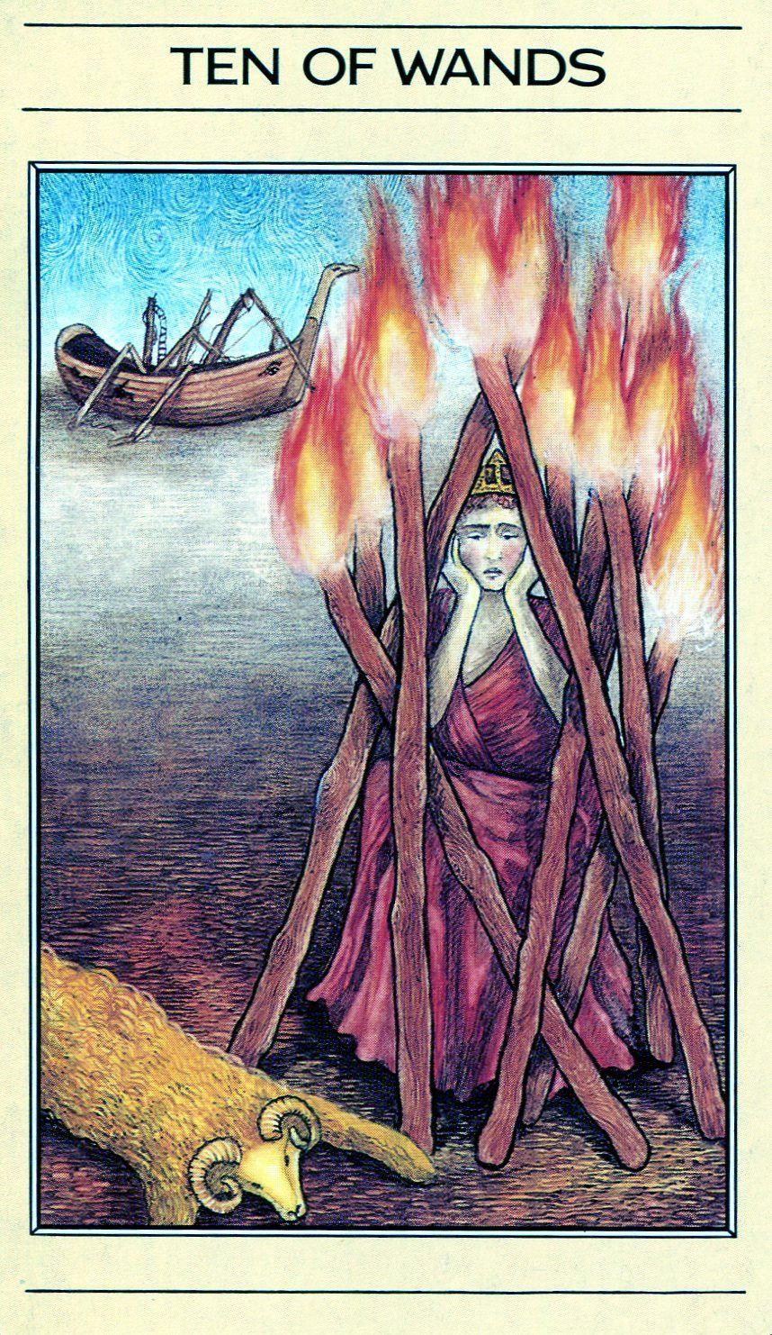 Ten Of Wands - Mythic Tarot
