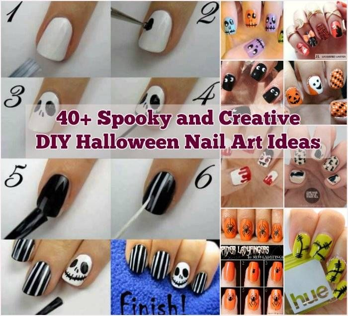 Diy Halloween Nail Art Ideas 40 Spooky And Creative Diy Halloween Nail Art Ideas Halloween Nails Diy Halloween Nail Art Halloween Nail Art Diy