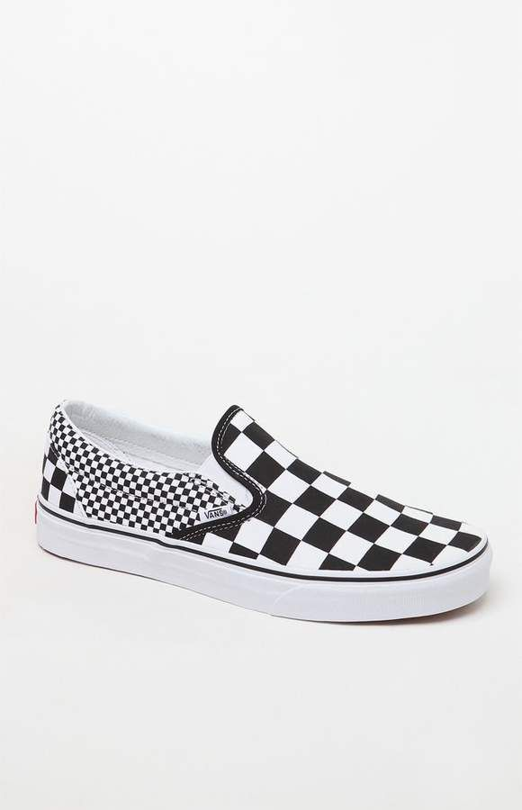 3a82c28d63 Vans Mix Checker Classic Slip-On Shoes