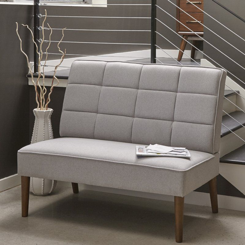 Modern Upholstered Settee Couch Loveseat Den Foyer Bedroom Living ...
