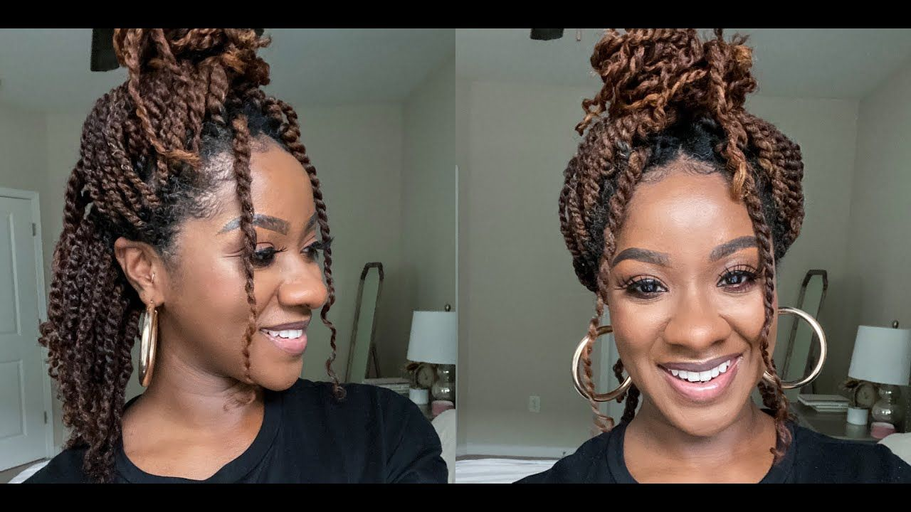 Moisturized Mini Twists On Natural Hair Natural Hair Protective Styles Mini Twists On Natural Hair In 2020 Natural Hair Styles Natural Hair Types Natural Hair Twists