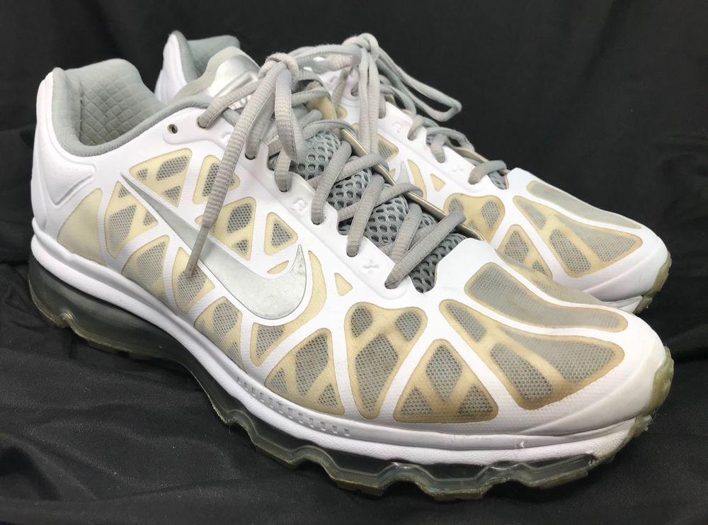 Mens Nike Air Max + 2011 tennis shoes 429889 101 Sz 10 white