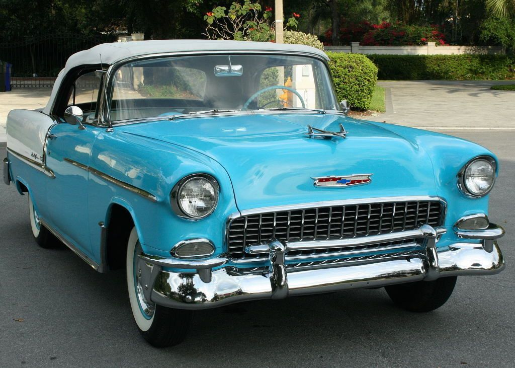 Cool Awesome 1955 Chevrolet Bel Air/150/210 CONVERTIBLE SURVIVOR ...