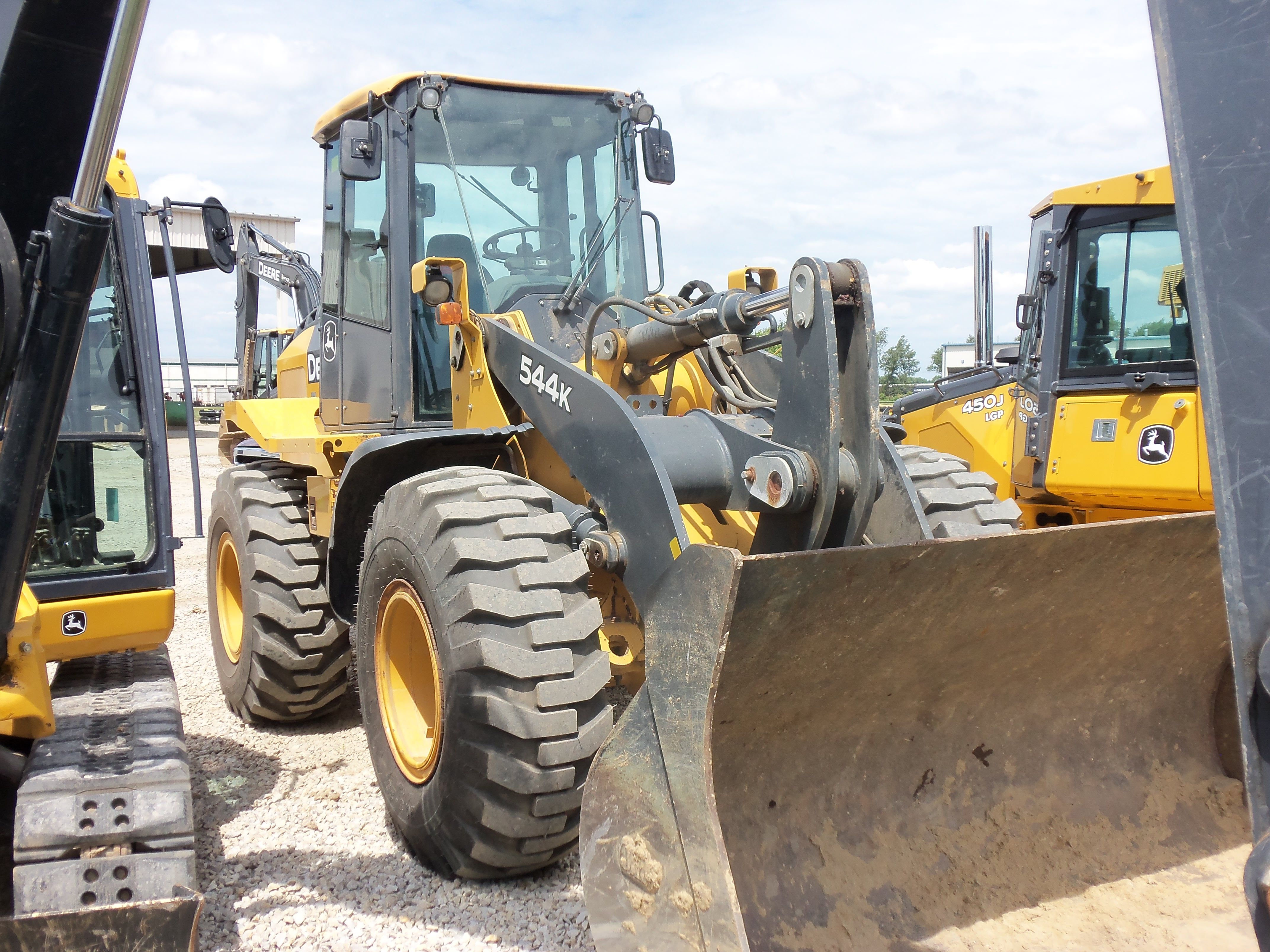 544K wheel loader.2013 is the 45th Anniversary of the introduction of the  544 wheel loader.Since 1968 John Deere has made the  JD544,JD544-A,JD544-B,544C ...