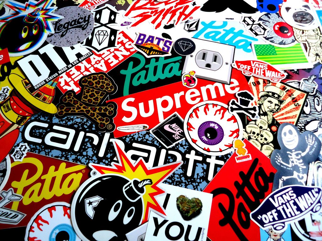 Supreme Sticker Wallpaper