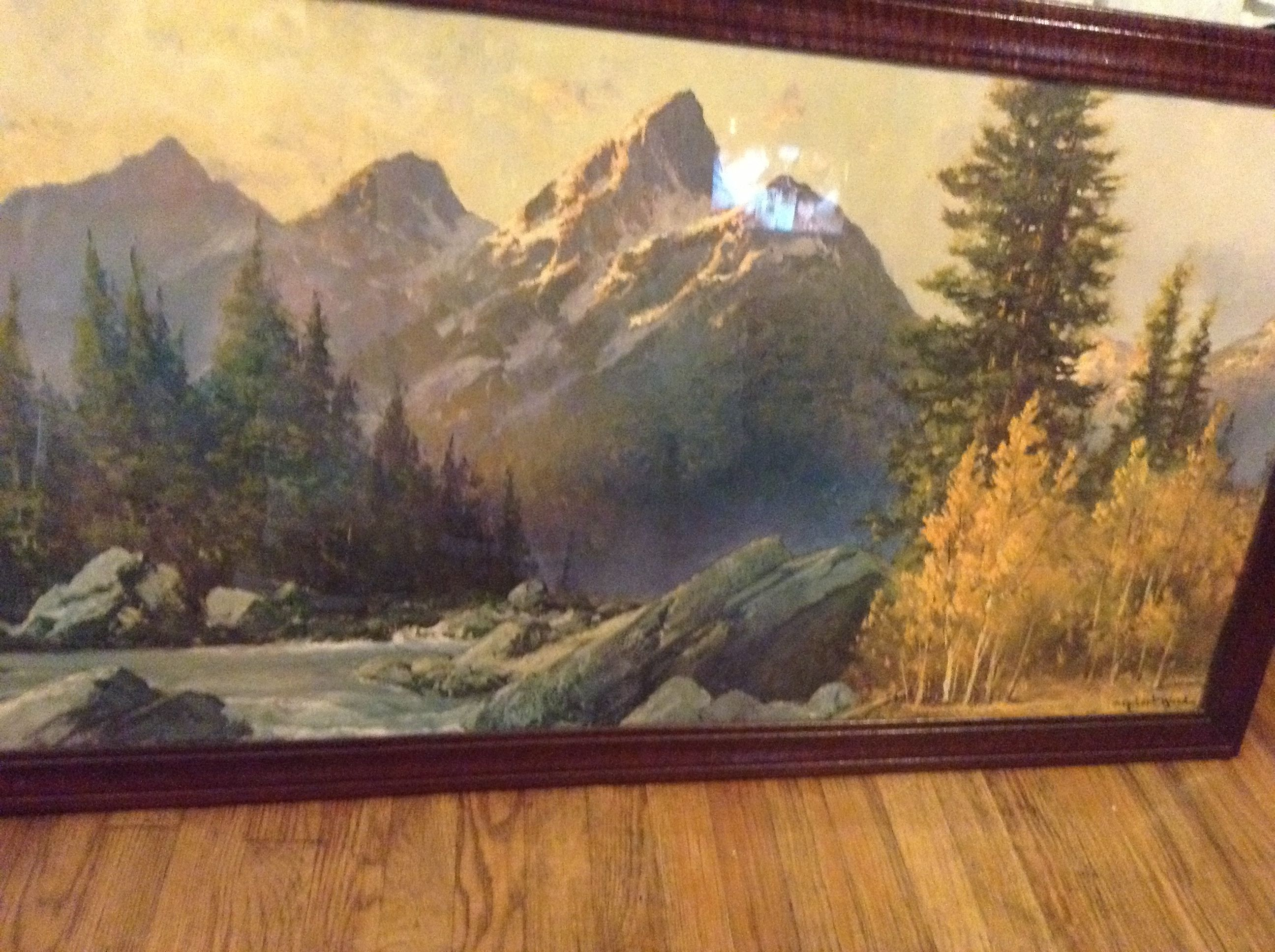 This is an awesome painting by robert wood robert woods for Mural art on wood