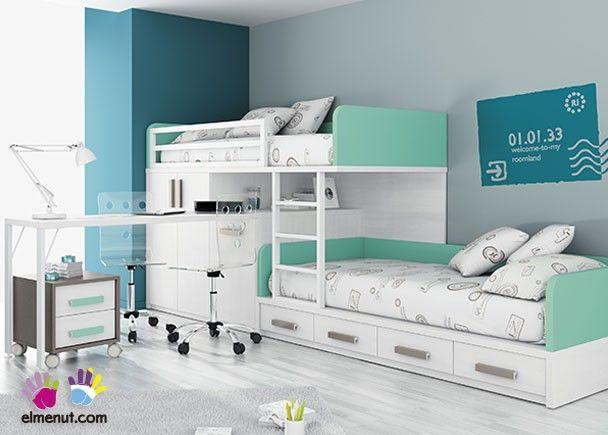 Habitaci n infantil con camas tipo tren armario 303 532014 - Cama tipo tren ...