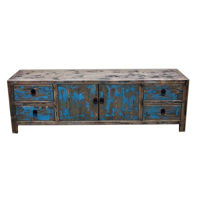 Best Distressed Low Chest Of Drawers Blue Low Chest Of 640 x 480