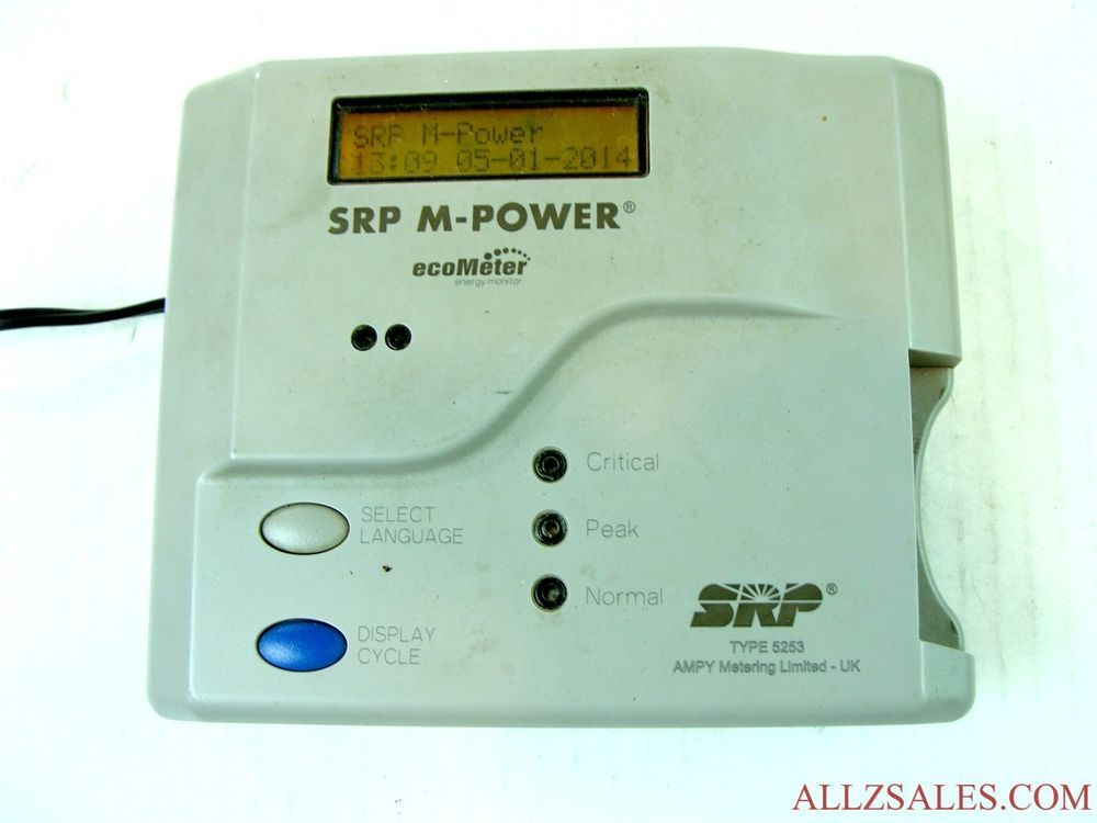 SRP M Power EcoMeter Type 5253, Pay As You Go SRP Power Meter Kit - new blueprint digital timer 240v