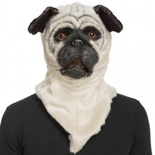 Mascara Bulldog Con Mandibula Movil Disfraces De Animales