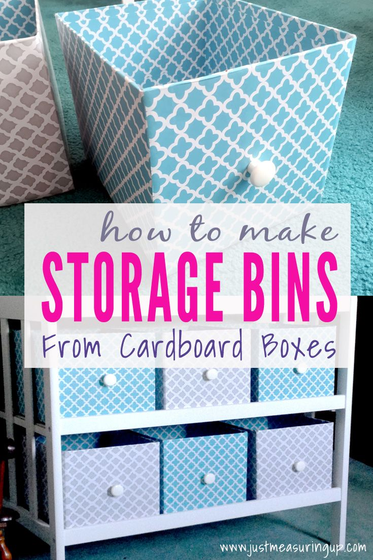 Making Customized Storage Bins From Cardboard Boxes Diy Storage