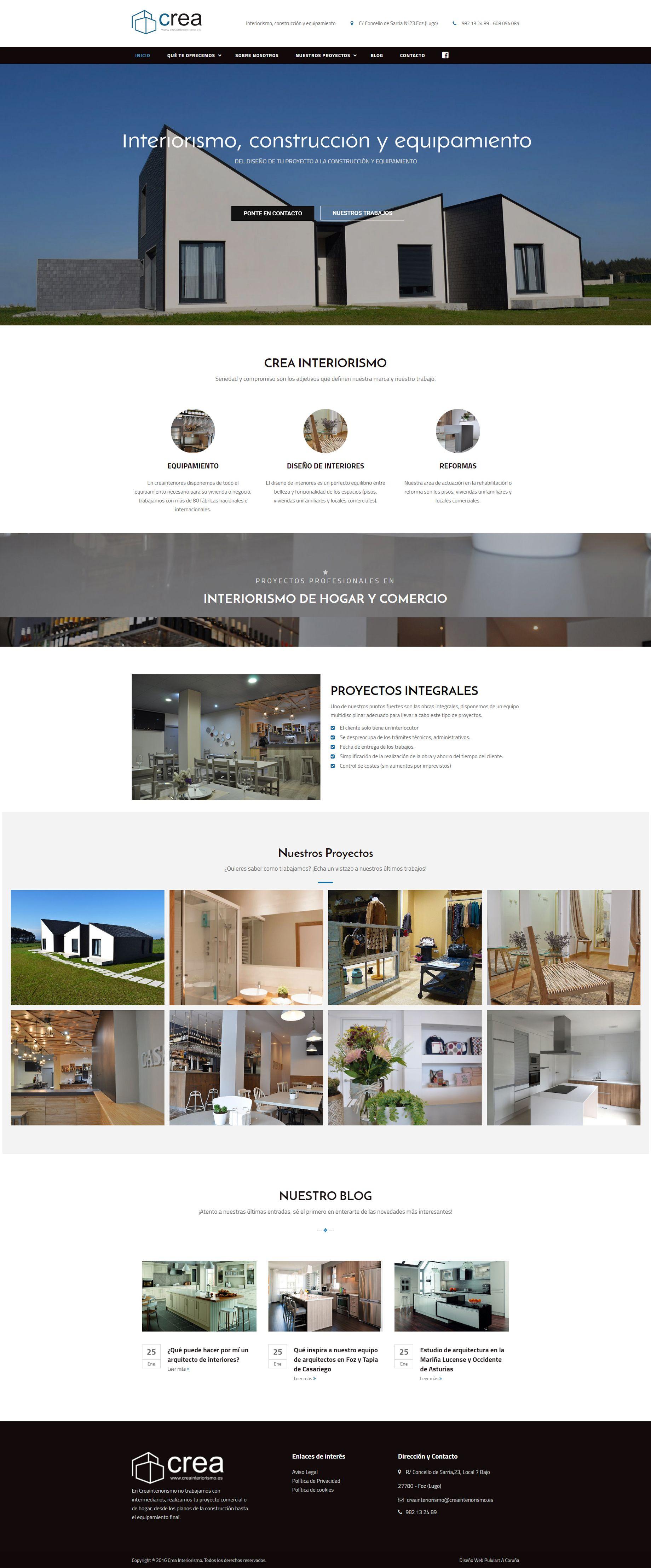 Hemos publicado la #web de Crea Interiorismo, una maravillosa página de diseño de interiores con unos proyectos impresionantes. Puedes echarle un vistazo a la página en www.creainteriorismo.es ¡No te la pierdas! ;D  #pululart #interiorismo #diseño #design #marketing #publicidad #presentación #layout #wordpress #corporativa #corporative