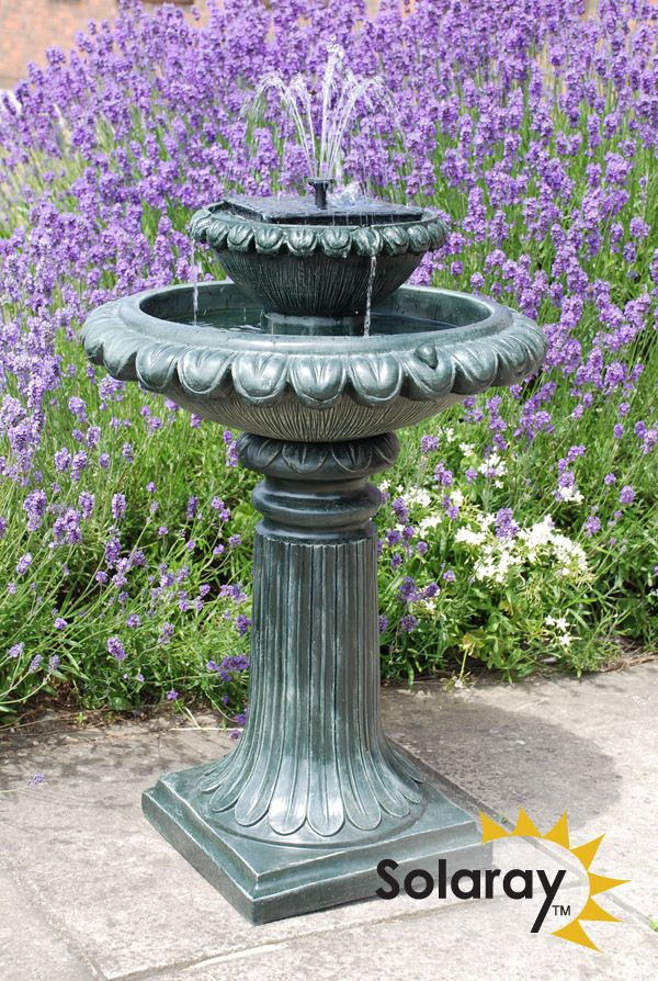 79cm Victoriana Solar Bird Bath Water Feature with Lights by Solaray ...