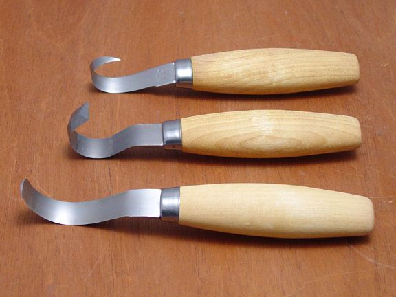 Woodcarving knives set of hook by mora