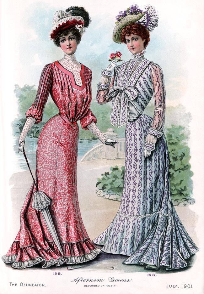 Delineator 1901 07a afternoon gowns exquisite history of for Exquisit mode