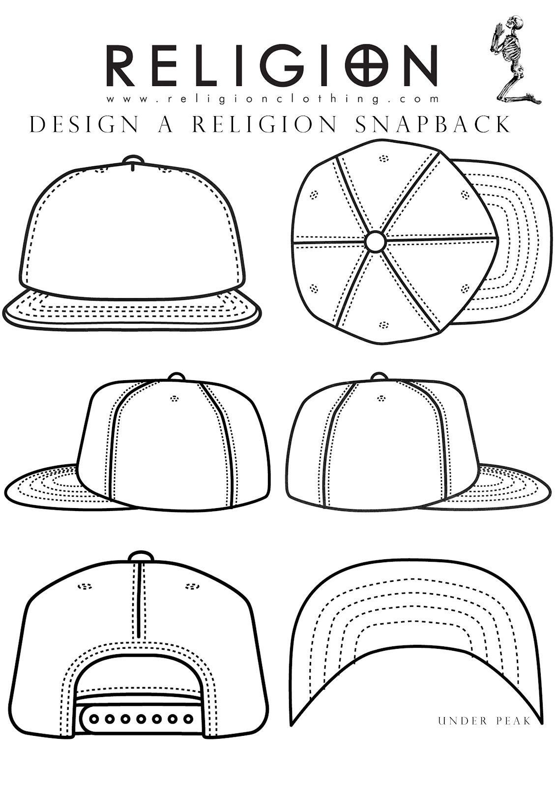 Snapback Template Projects Pinterest Fashion Design Hat