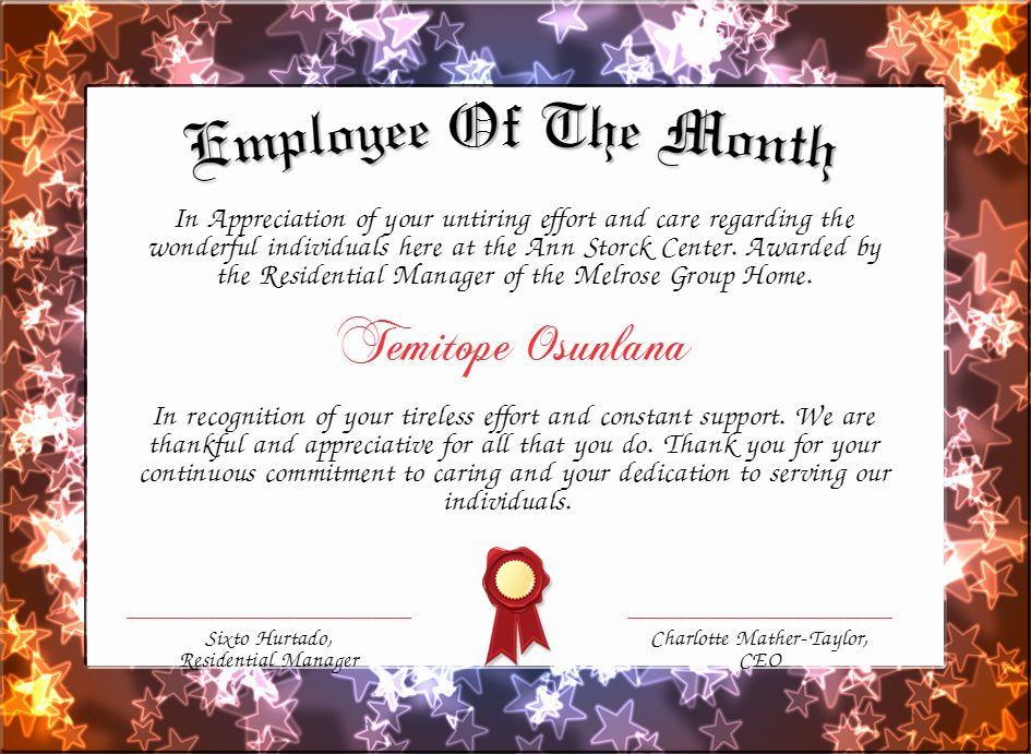 20 Funny Employee Of the Month Certificate ™ in 2020