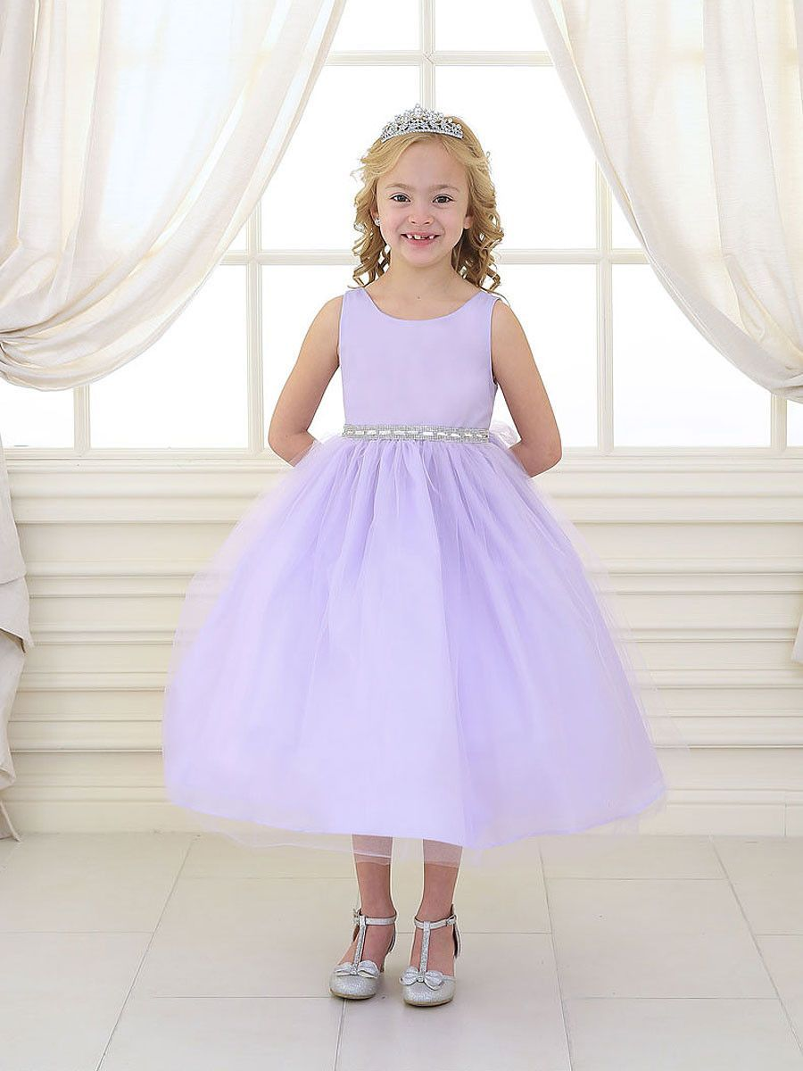 Sweet Satin and Tulle Flower Girl Dress – Just Unique Boutique ...