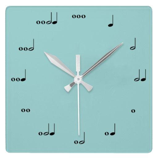 The Original Music Note Clock | Zazzle.com