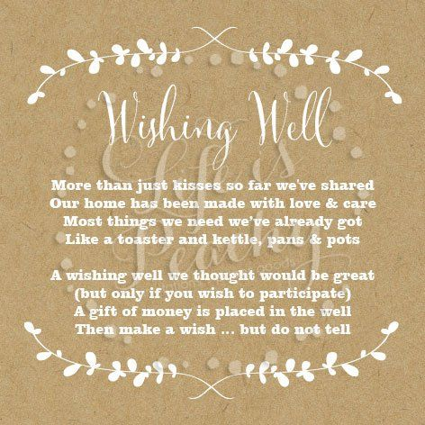 wishing well poems google search more wishing well bridal shower