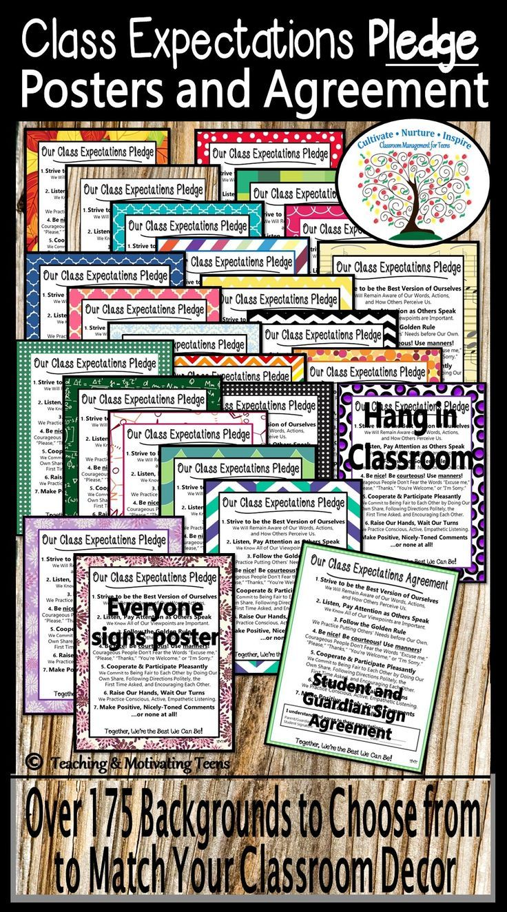 Editable Class Expectations Poster And Contract Middle High School