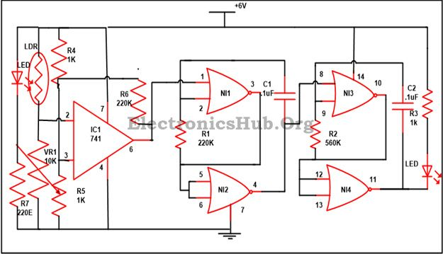 electronic letter box project circuit and its working mini rh pinterest com
