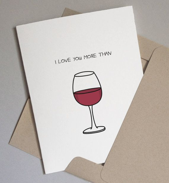 Funny anniversary card i love you more than wine 2 interior funny anniversary card i love you more than wine 2 interior options bookmarktalkfo Gallery