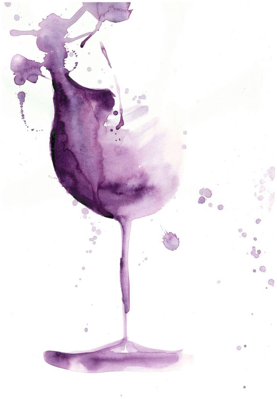 I Think I M Going To Incorporate A Watercolor Wine Glass Into My