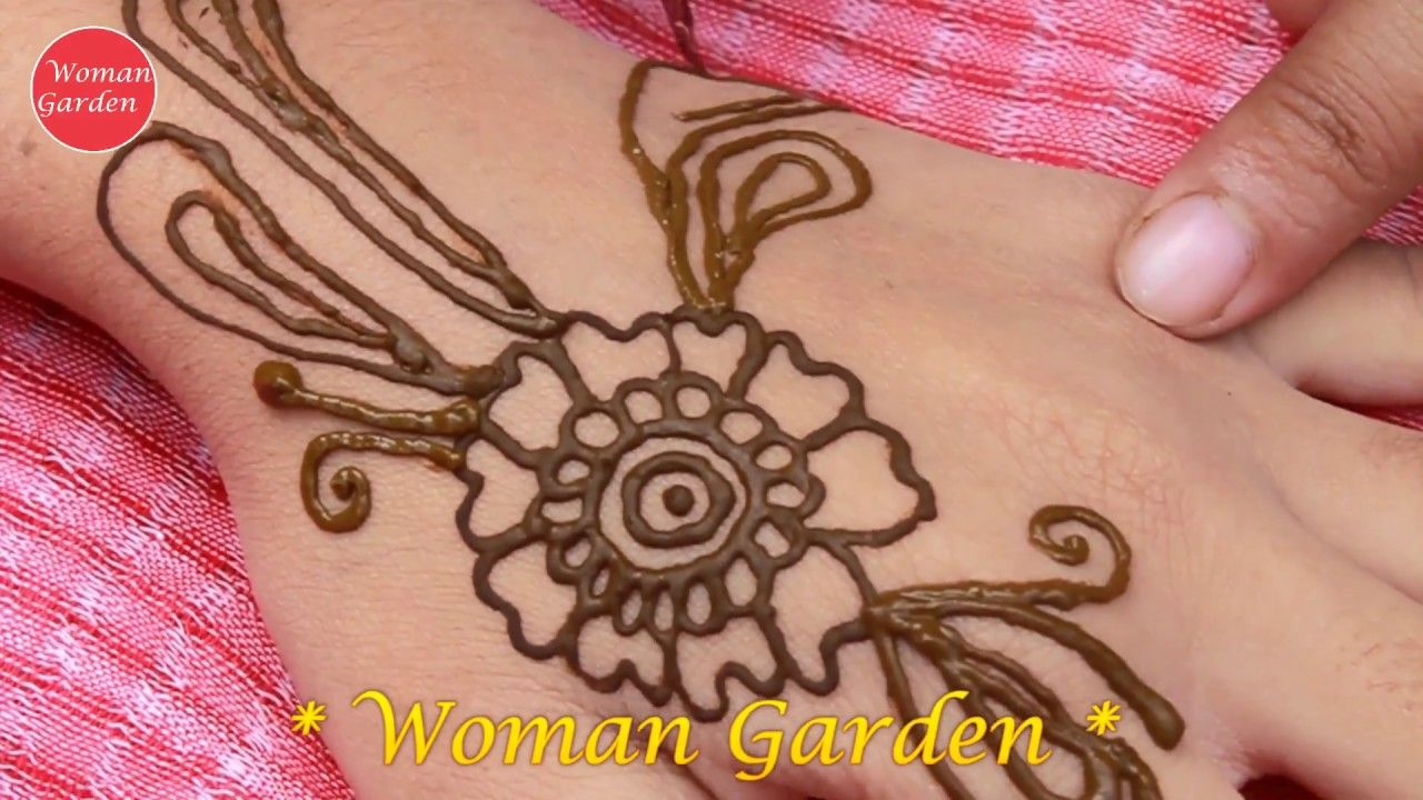 Easy Mehndi Ideas : Easy mehndi design stylish woman garden