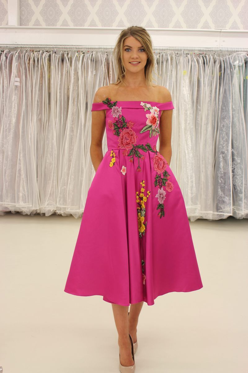 c8073262aa Beautiful floral embroidered dress in the perfect colours for Autumn Winter   17! This
