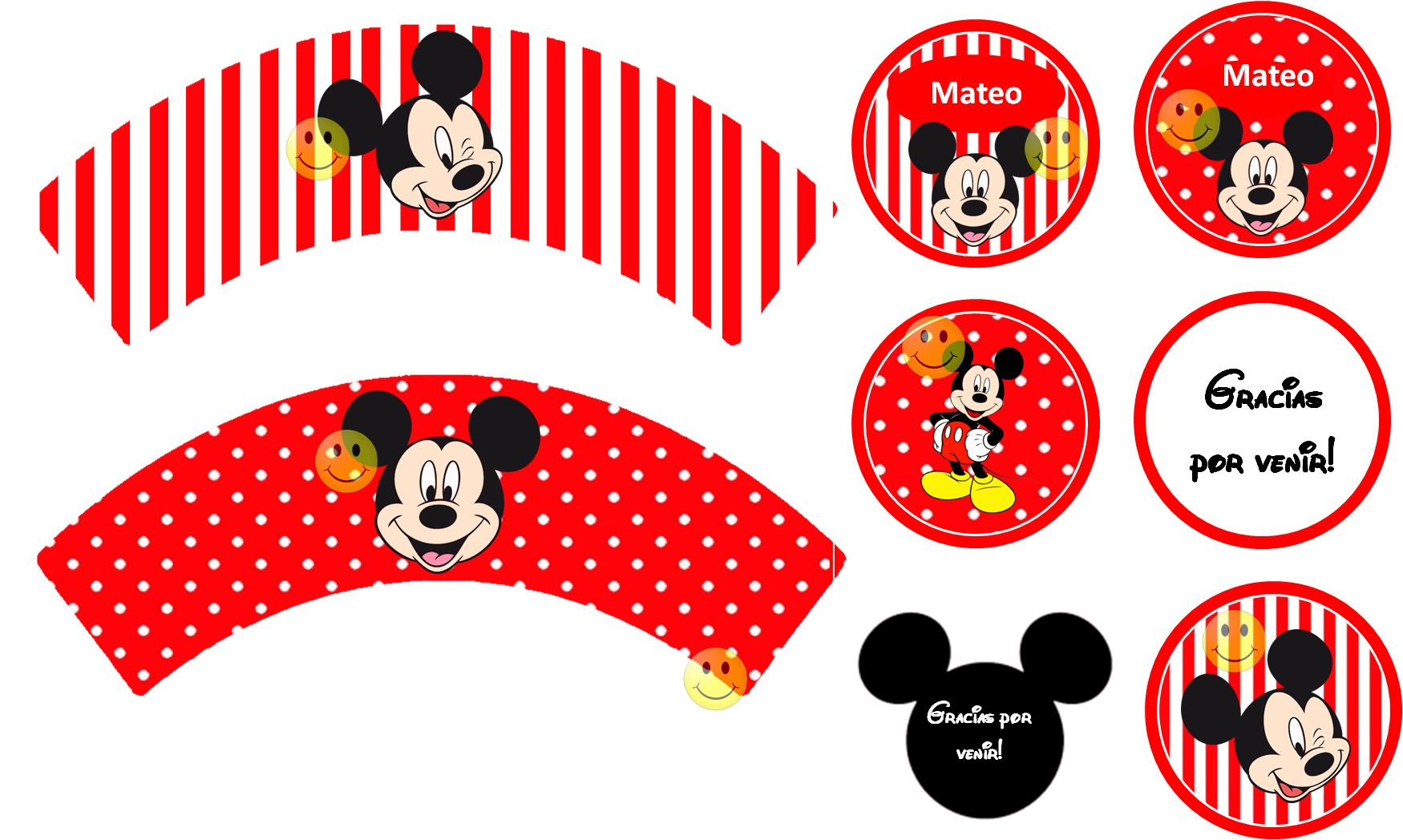 etiquetas candy bar mickey - Buscar con Google