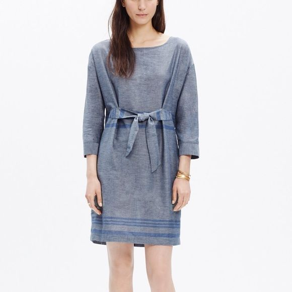 Madewell Tie Front Dolman Dress A striped cotton dress with a tie front and slouchy dolman sleeves. So perfect with ankle boots. Madewell Dresses