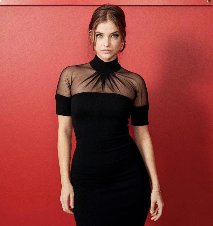 Sheer Elegance Sheer Top Dress Fashion Barbara Palvin [ 1313 x 1242 Pixel ]