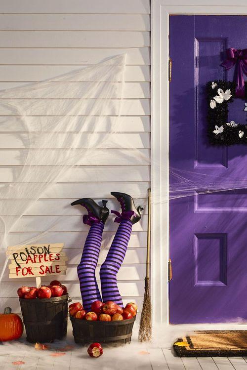 DIY Witch Legs porch Halloween Decor Ideas Halloween Pinterest - decoration ideas for halloween party