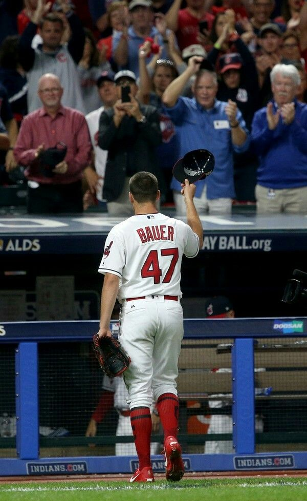 Cleveland Indians Starting Pitcher Trevor Bauer Leaves The Game In The 7th Inning Tipping His Cap To The Cleveland Indians Cute Baseball Players Baseball Pants