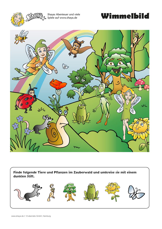 Wimmelbild: Es wimmelt im Zauberwald! Findest du alle gesuchten ...