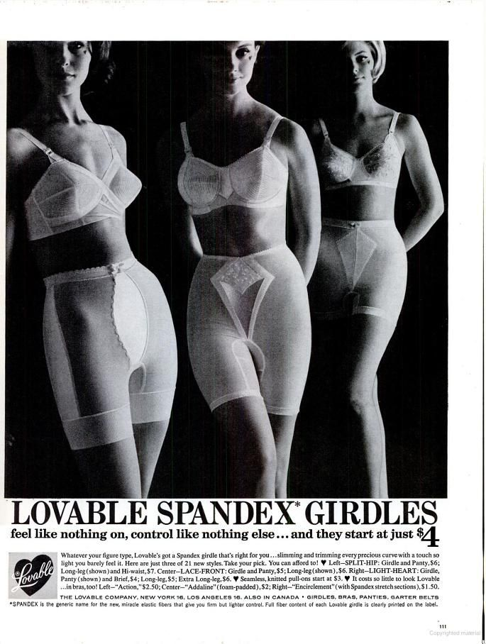 a6c71dabfea Lovable Spandex Girdles (1962)