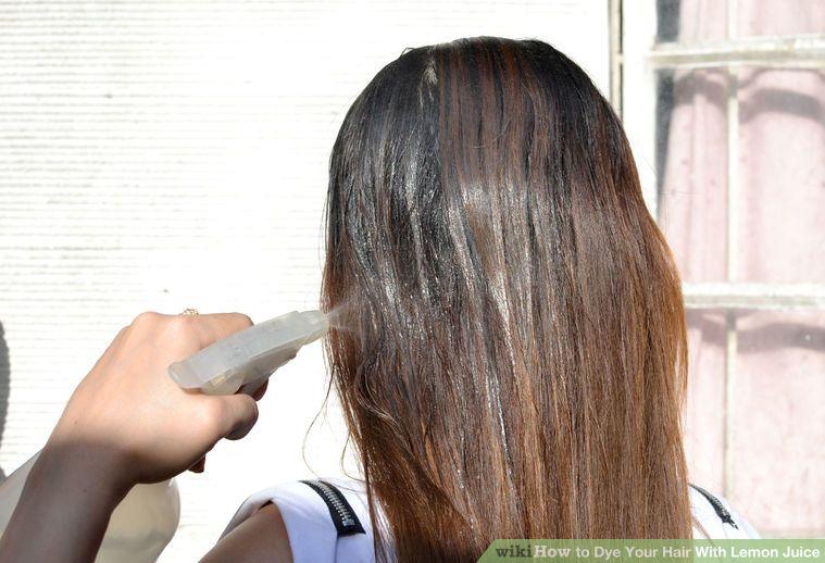 How To Dye Your Hair With Lemon Juice Lighten Dyed Hair How To Lighten Hair Homemade Hair Dye
