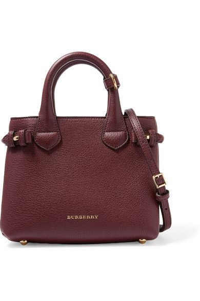 Burberry - London mini checked canvas-paneled textured-leather shoulder bag d3080ba160
