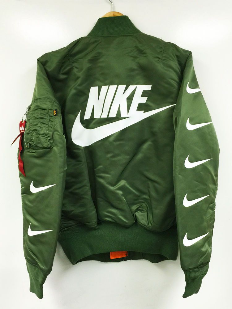 GLOW IN THE DARK MA-1 BOMBER JACKET alpha x nike air supreme ...