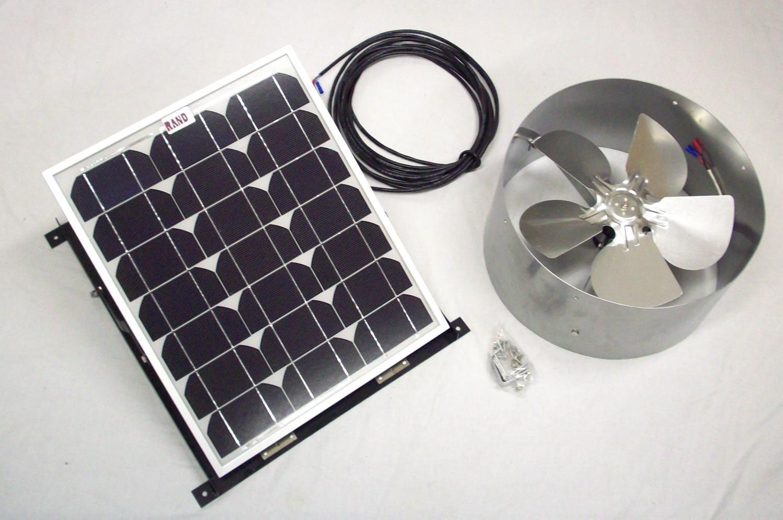 Rand Solar Powered Attic Gable Fan 15 Watt 1000 Cfm Ventilator Roof Vent Panel Gable Fans Solar Solar Attic Fan