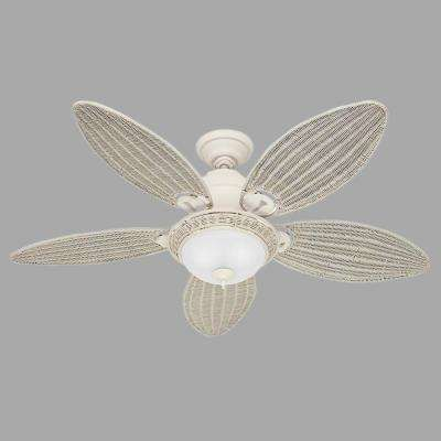 Caribbean Breeze 54 in. Textured White Ceiling Fan
