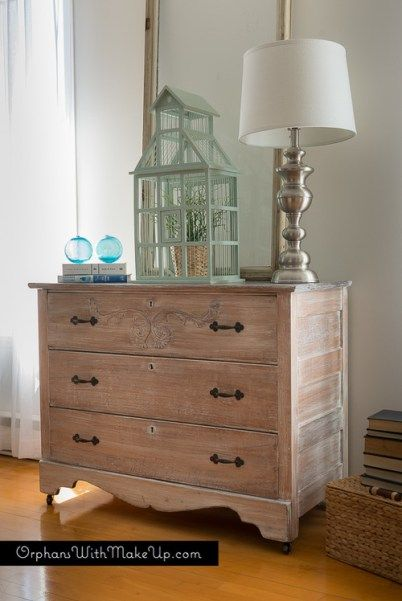Whitewashing Furniture Is A Great Way To Revive An Old Piece Of